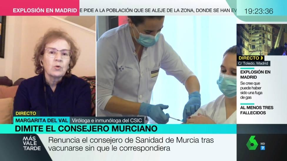 La pregunta en directo que Margarita del Val se niega a responder: Es personal