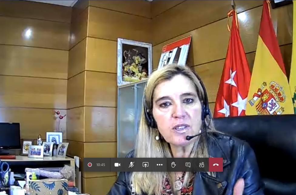 Mariola Vargas en rueda de prensa telemática