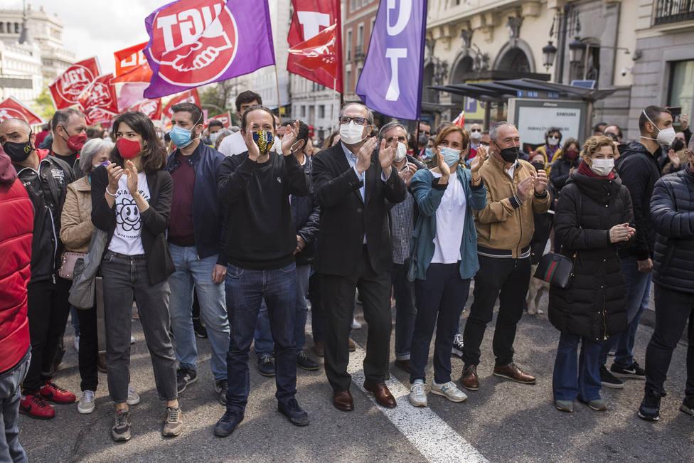 Todos los candidatos de la izquierda juntos en la manifestación del Primero de Mayo