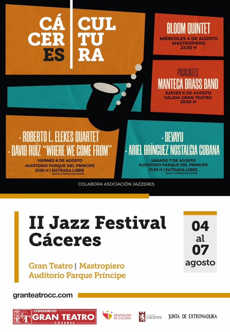 Cartel Jazz Festival Cáceres