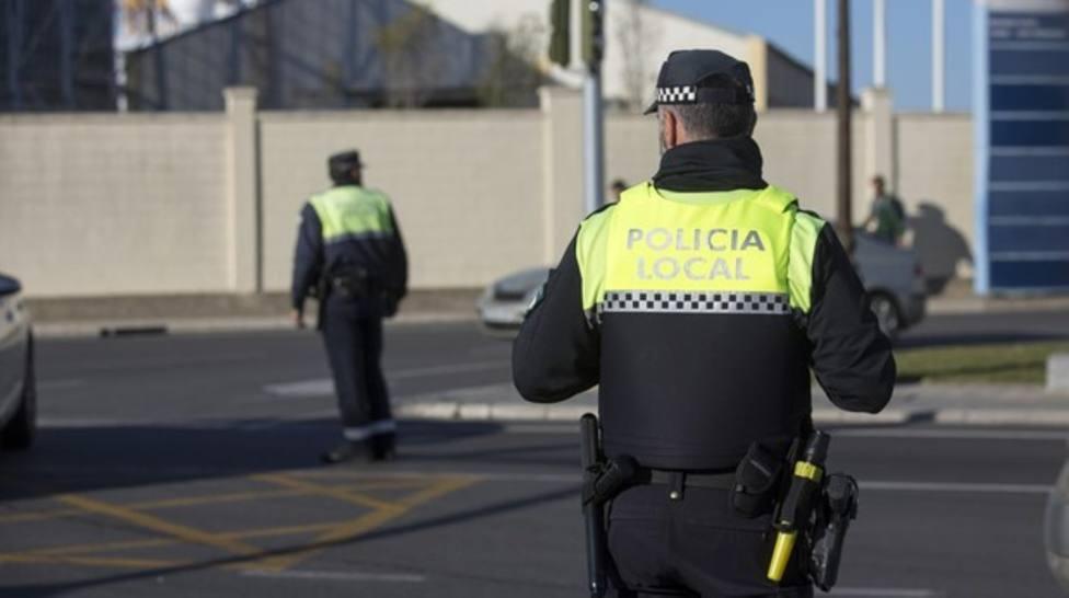 Actuación de los efectivos de la Policía Local