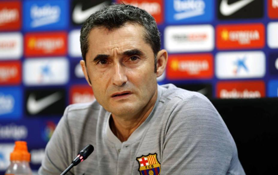 ErnestoValverde, entrenador del Barcelona