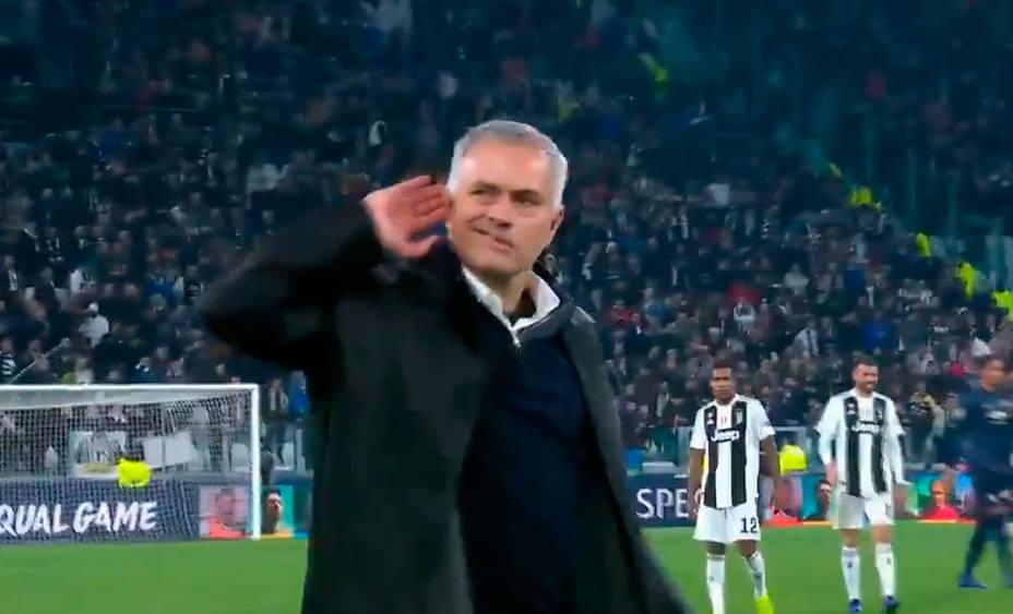 El gesto de Mourinho tras ganar a la Juventus