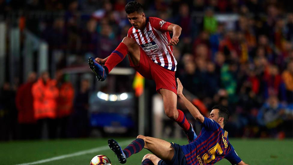 Rodri durante el Atltico de Madrid - Barcelona CORDONPRESS
