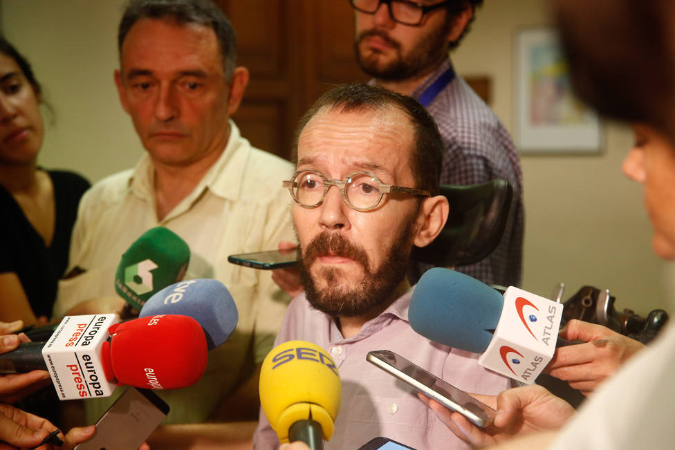 Echenique no descarta retomar la negociación hoy o el fin de semana, en cuanto el PSOE levante su línea roja