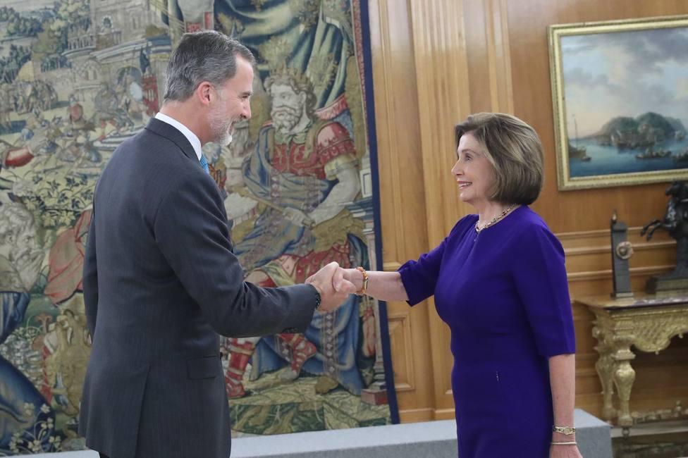 El Rey recibe en Zarzuela a Pelosi, Guterres y varios jefes de Estado asistentes a la Cumbre del Clima