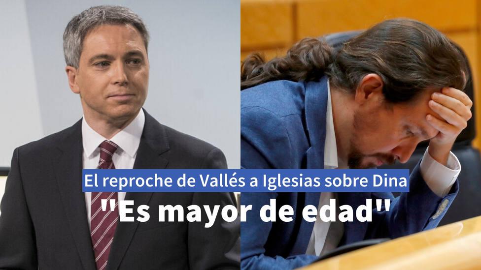 Así reprocha Vicente Vallés a Pablo Iglesias su paternalismo con Dina Bousselham: Es mayor de edad
