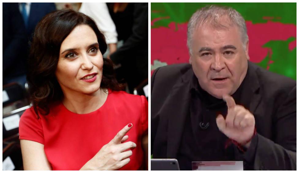 Las palabras de Díaz Ayuso contra el Gobierno que Ferreras censura en directo