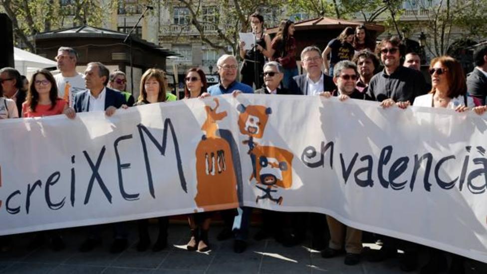 Ribó y otros altos cargos participan en un acto de Escola Valenciana