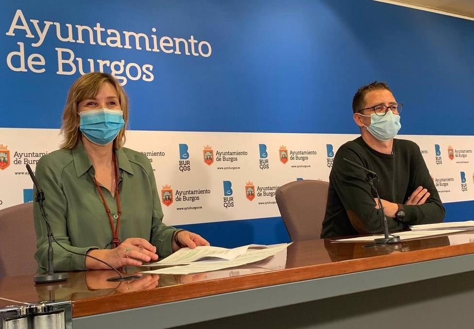 Sonia Rodríguez Y Josué Temiño, Concejales De Servicios Sociales Y Juventud Del Ayuntamiento De Burgos.