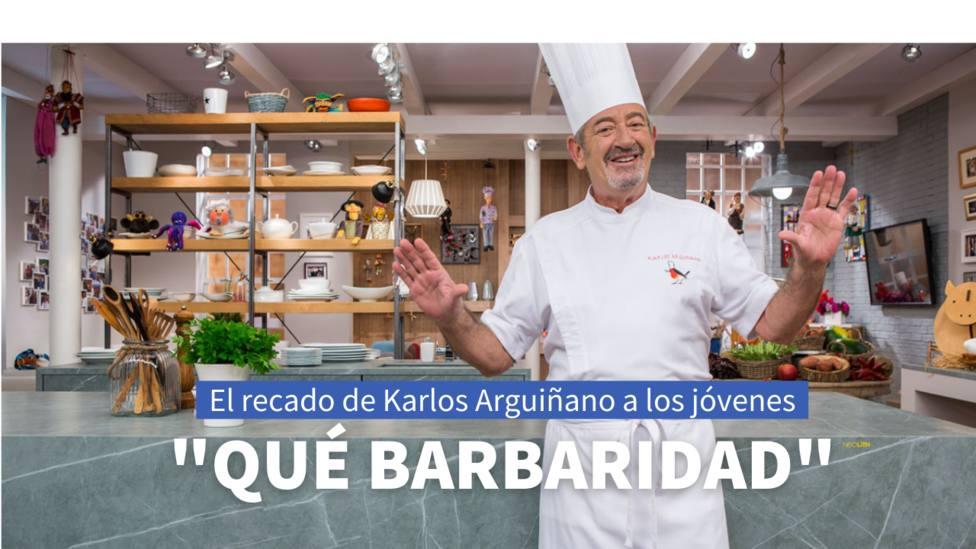 El recado de Karlos Arguiñano a los jóvenes para evitar un nuevo confinamiento domiciliario en España