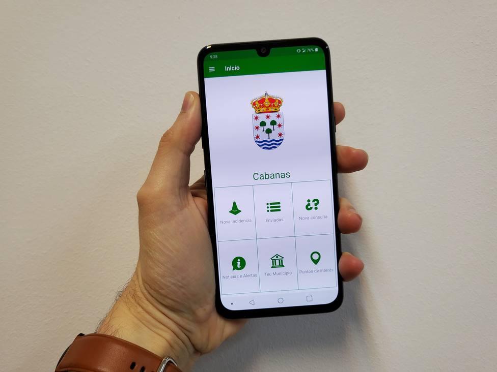 Portada de la aplicación Línea Verde del Ayuntamiento de Cabanas - FOTO: Concello de Cabanas
