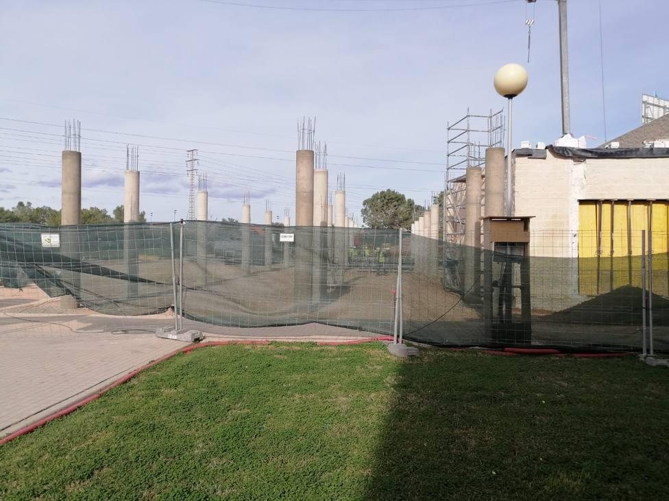 Obras de construcción de la nueva UCI del hospital la Plana de Vila-real