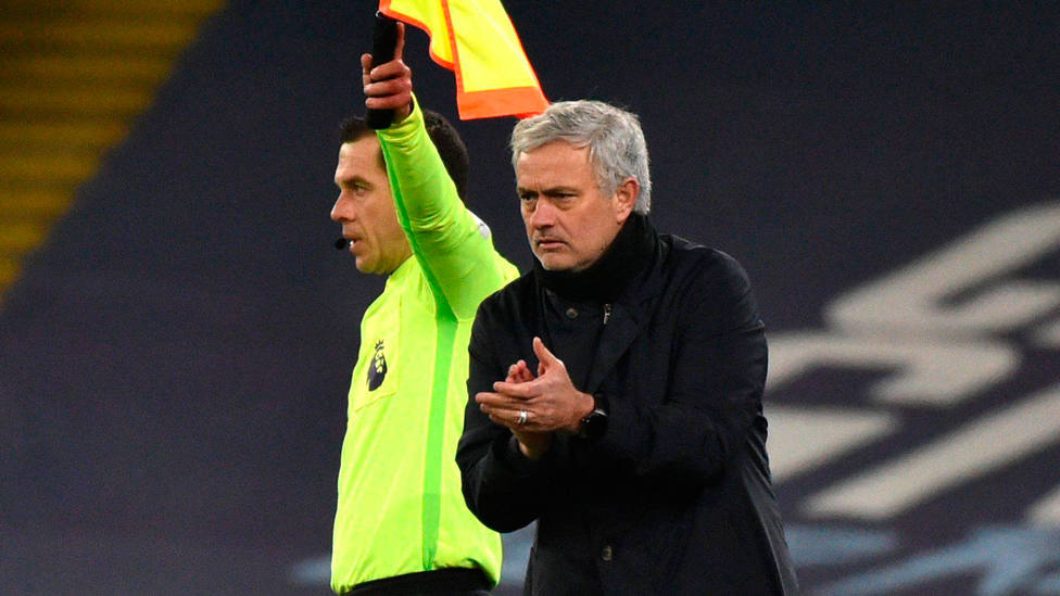 José Mourinho, durante el partido entre City y Tottenham. CORDONPRESS