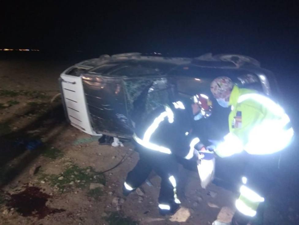 Vehículo accidentado en el que falleció uno de sus ocupantes el pasado domingo