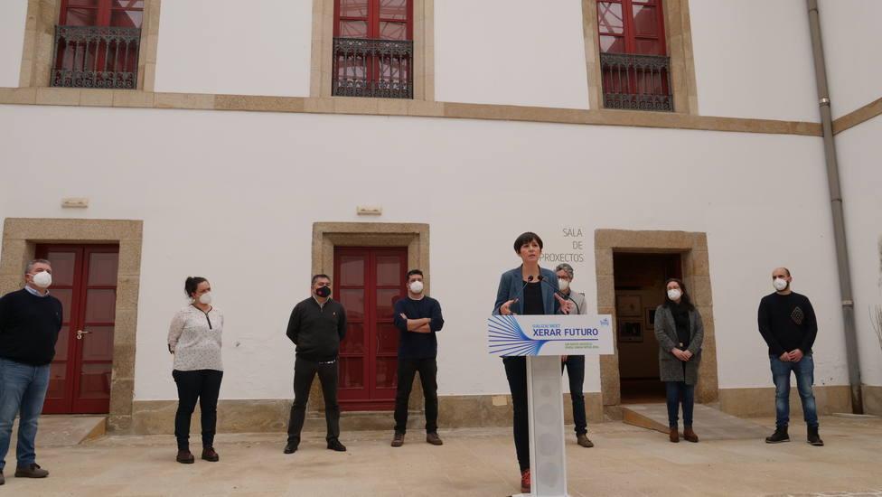 La portavoz nacional del BNG, Ana Pontón, en el Centro Torrente Ballester de Ferrol. FOTO: BNG
