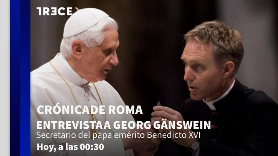 Mons. Don Georg Gänswein, secretario general del papa emérito Benedicto XVI, esta noche en 'Crónica de Roma'