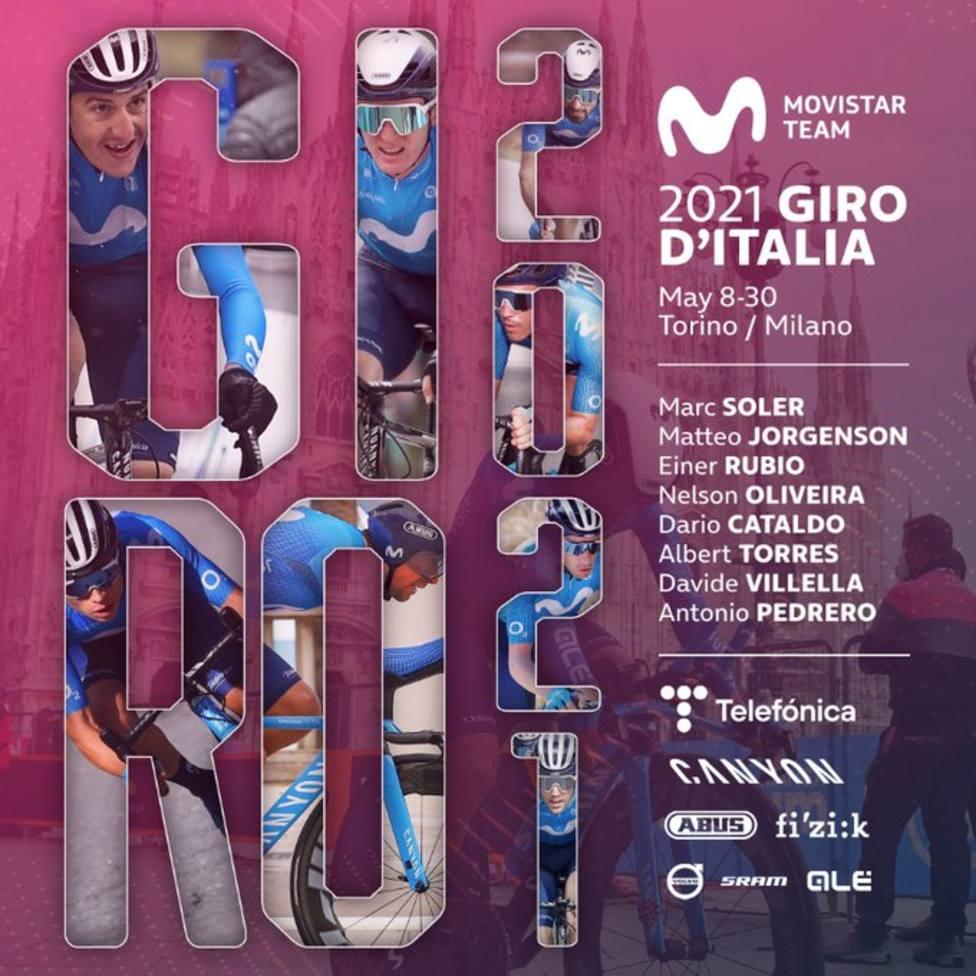 Marc Soler liderará al Movistar Team en el Giro