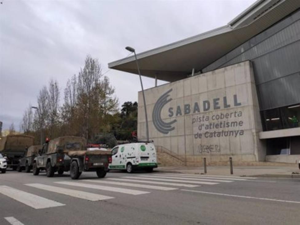 La llegada del Ejército de Tierra a la instalación deportiva de Sabadell