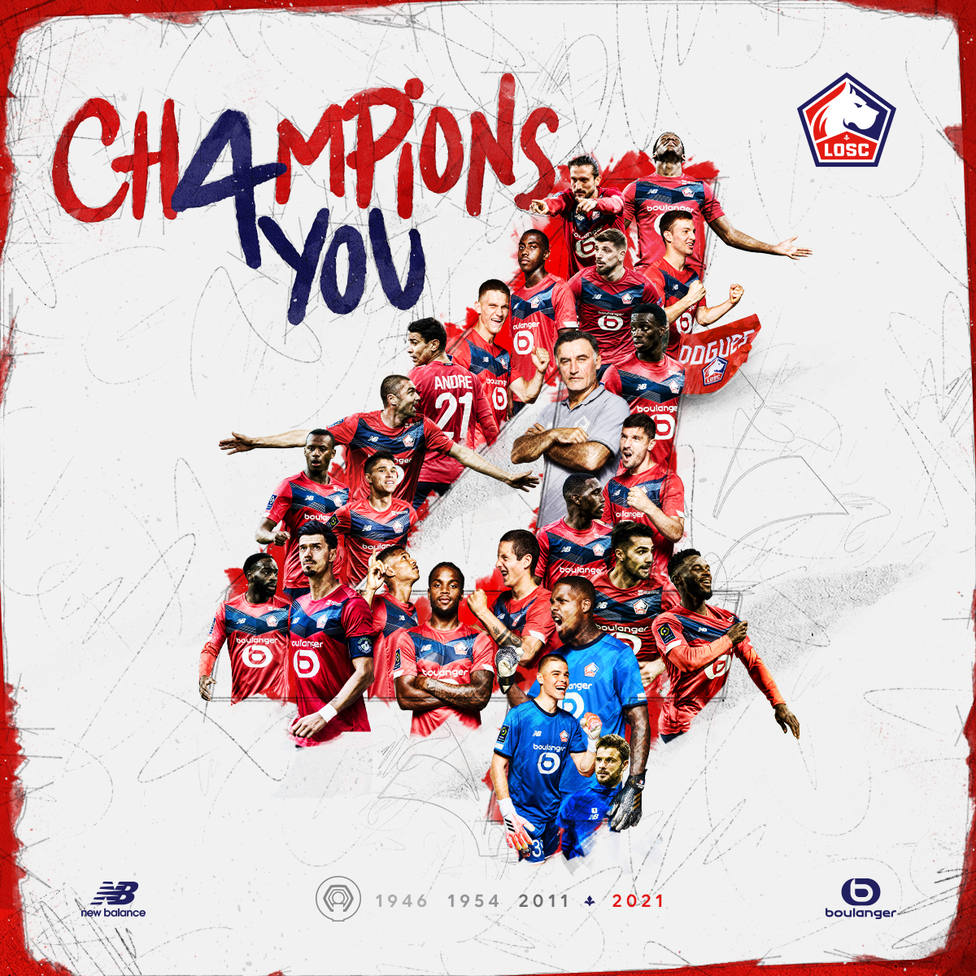 El Lille le arrebata el título al PSG y se proclama campeón de la Ligue 1 por quinta vez en su historia