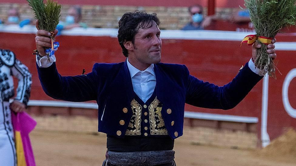 El rejoneador Andrés Romero durante una actuación en La Merced de Huelva