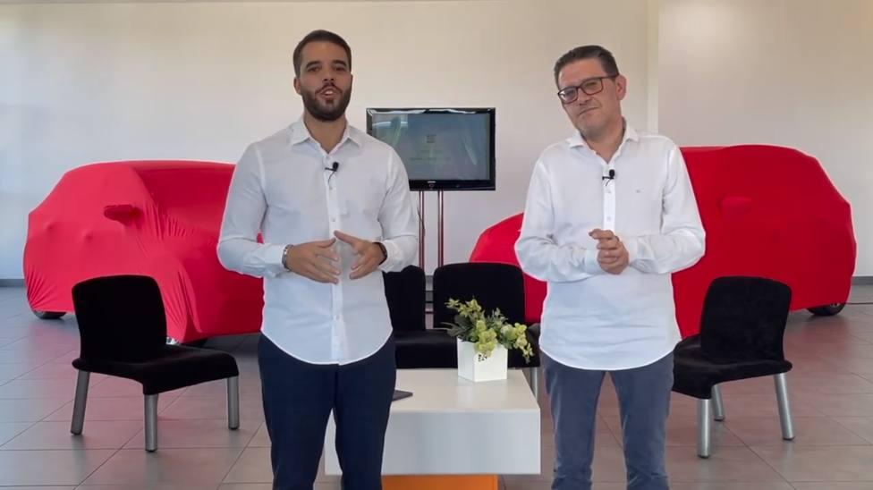 Hugo Díaz y Carlos Rico durante la presentación de los nuevos SEAT