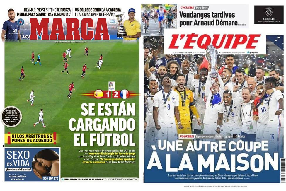 Diversidad de opiniones en la prensa europea con el gol de Mbappé