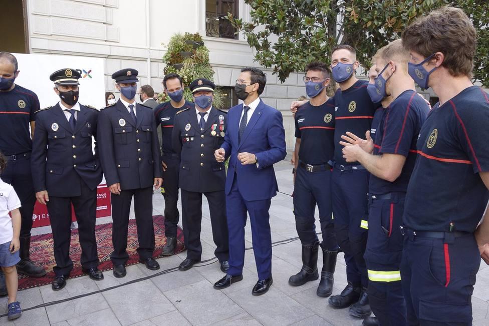 Granada.- Bomberos desfila este martes en Madrid con las Fuerzas Armadas con motivo de su bicentenario