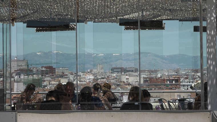 Video Madrid A Vista De Terraza La Azotea Del Círculo De