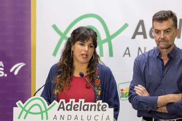 AV.- Teresa Rodríguez asegura que Adelante no votará ni facilitará una investidura de Ciudadanos