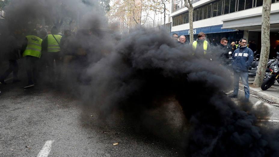 Protestas de los taxistas de Barcelona