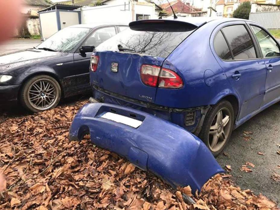 Estado en el que quedó el vehículo utilizado para el robo por el método de alunizaje