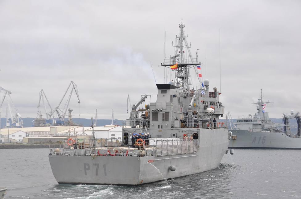 Foto de archivo del Serviola en aguas de la ría de Ferrol