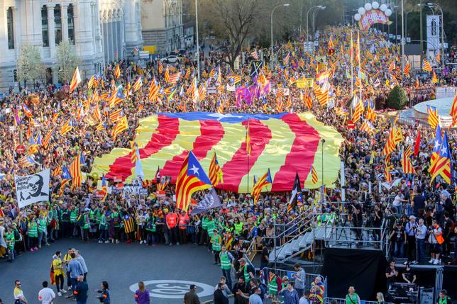Pinchazo de la manifestación independentista: 18.000 personas según la Policía Nacional
