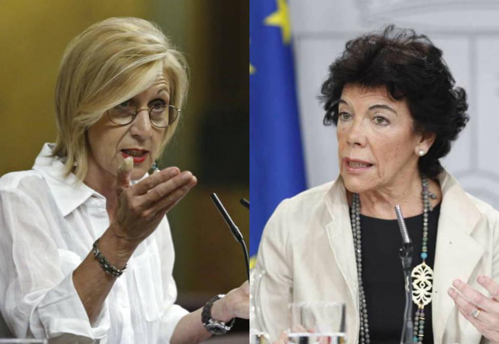 """Rosa Díez responde a la ministra Celaá por sus palabras sobre el ejercito: """"No insulte"""""""
