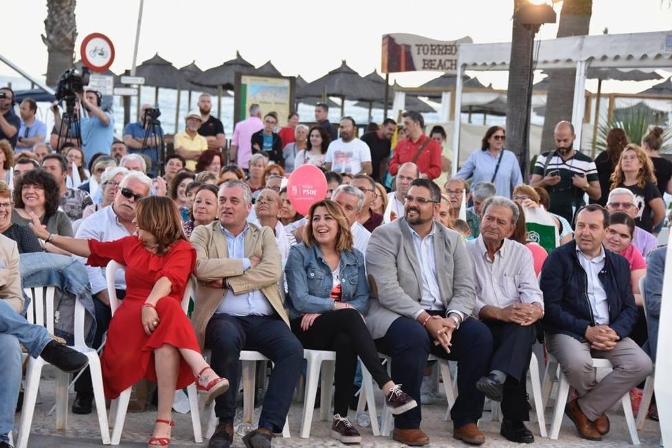 Susana Díaz: Las derechas se unirán en los ayuntamientos si suman y ese pacto se frena votando
