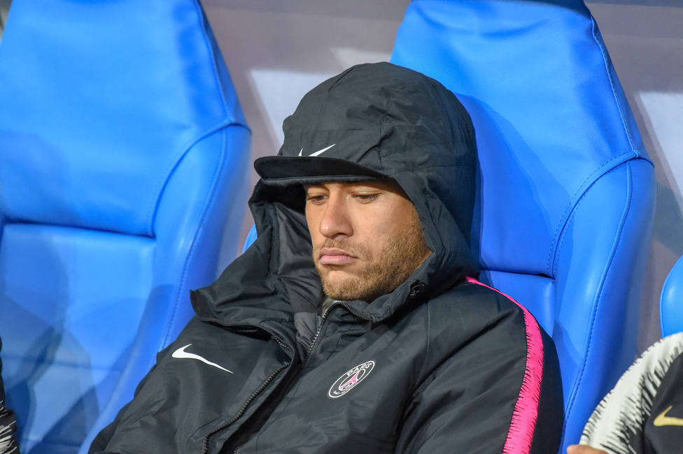 disappointment Neymar of PSG during the French Cup, Final football match between Stade Rennais and Paris Saint-Germain on April 27, 2019 at Stade de France in Saint-Denis near Paris, France - Photo Stephane Valade / DPPI