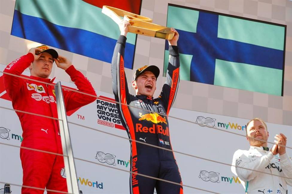 Podio GP de Austria