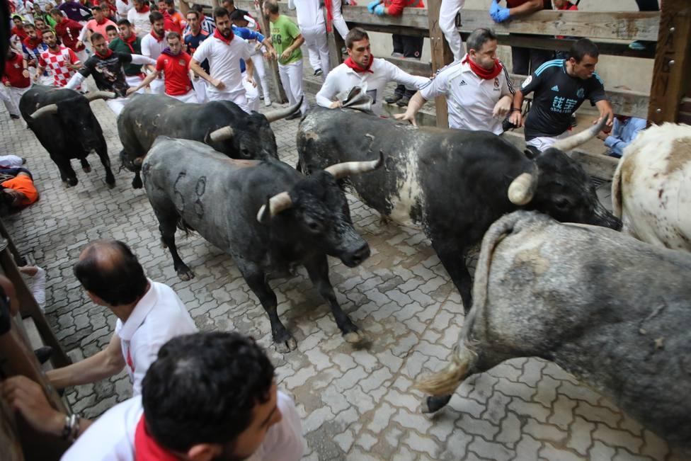 Evolucionan favorablemente los cuatro heridos en festejos taurinos de Sanfermines que continúan ingresados