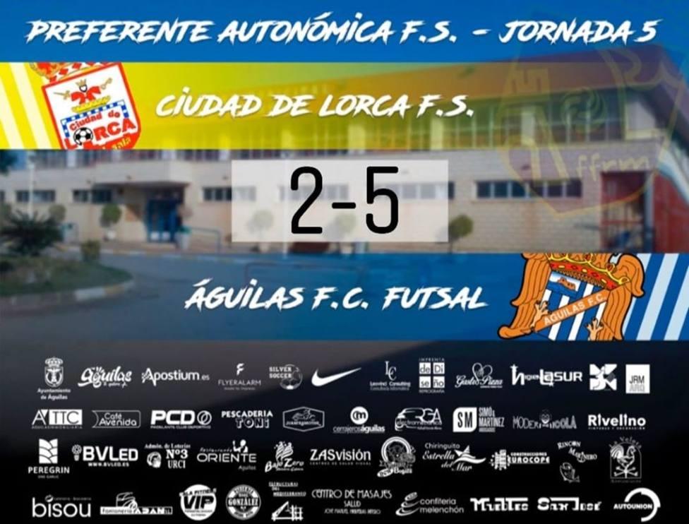 Águilas FS se impone 2-5 ante Ciudad de Lorca y se anfianza como líder