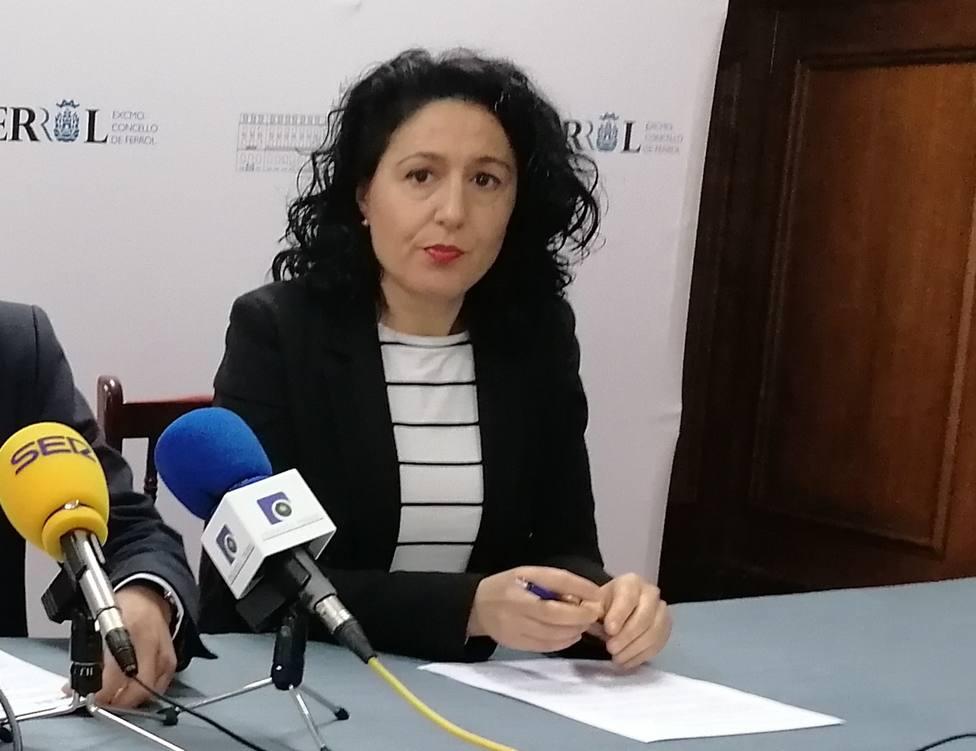 Maika García, concejala del grupo municipal del PP en el Ayuntamiento de Ferrol