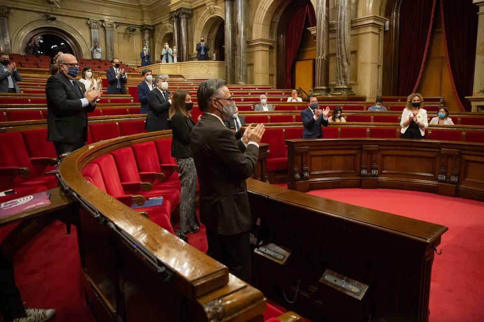El pleno sobre la inhabilitación de Torra se reanuda tras rechazarse las consideraciones de Cs y PSC