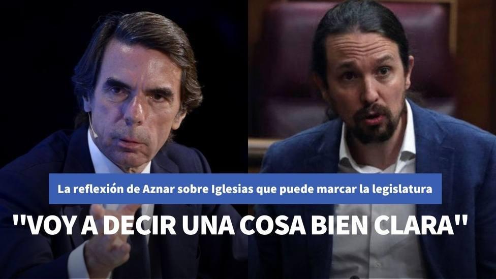 La reflexión de Aznar a Bertín Osborne sobre Iglesias que puede marcar el Gobierno de Sánchez