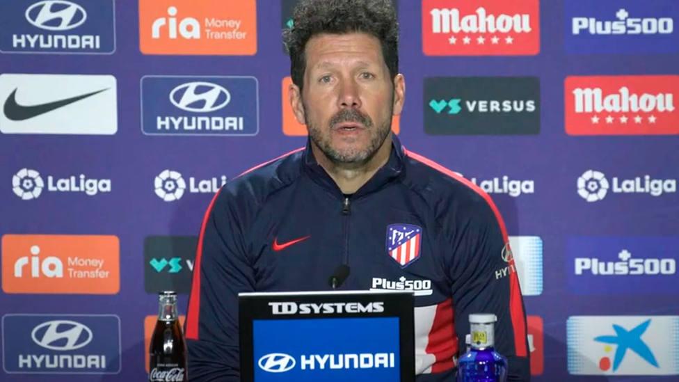 Diego Simeone, en rueda de prensa (Atlético de Madrid)