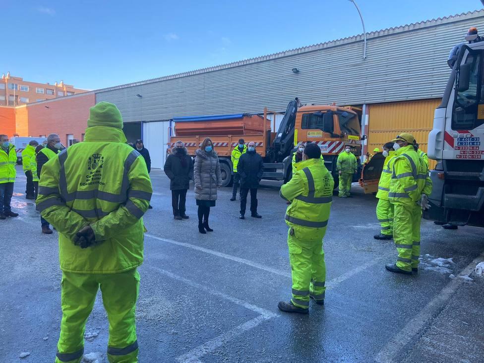 Dispositivo de limpieza de carreteras en Aragón