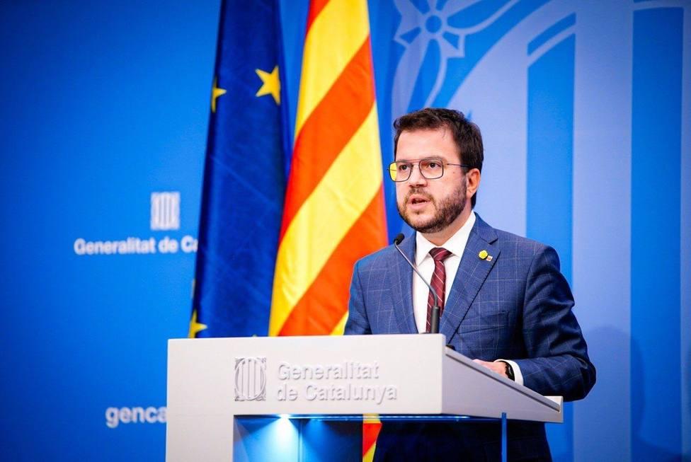 Aragonès expresa su apoyo a los Mossos mientras pide no criminalizar las protestas
