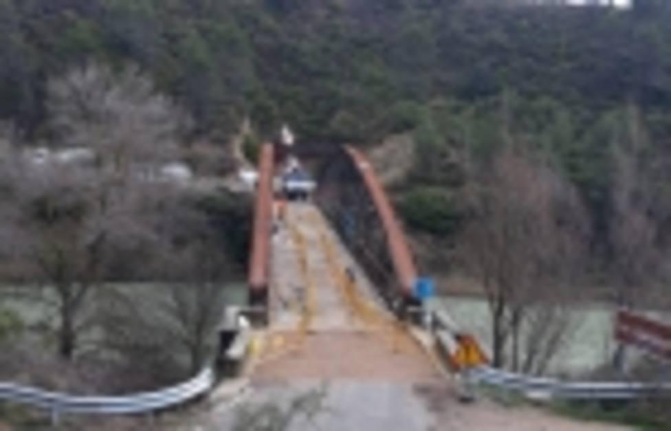 Hormigonado en el Puente de Santa Eulalia de Gállego
