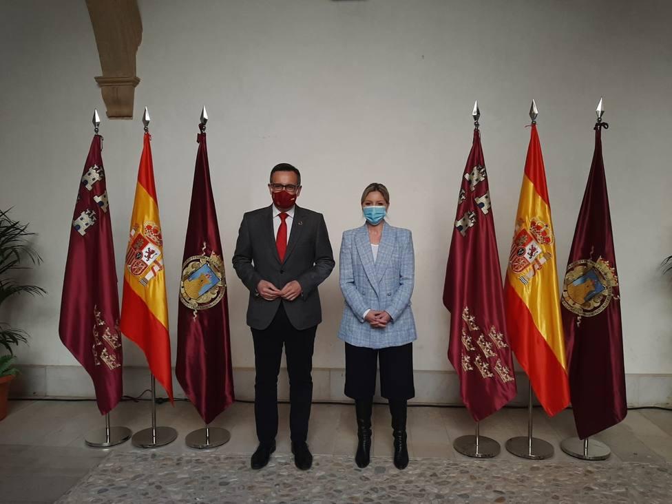 Ana Martínez Vidal (CS) y Diego Conesa (PSOE) en Lorca