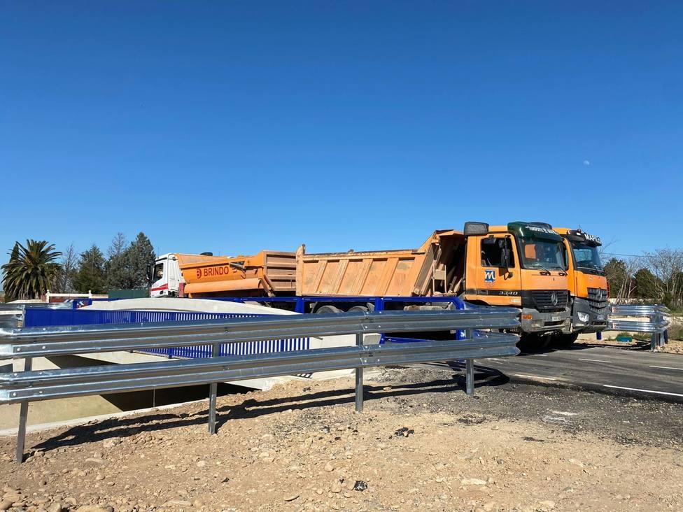 Finalizan las obras del puente sobre el canal de Lodosa en Calahorra