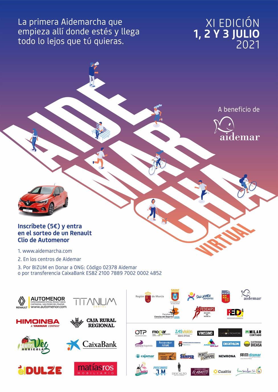Abierto el plazo para participar en Aidemarcha21, una carrera solidaria en favor de las personas con discapacidad